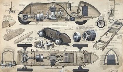 طراحی خودرو در قدیم