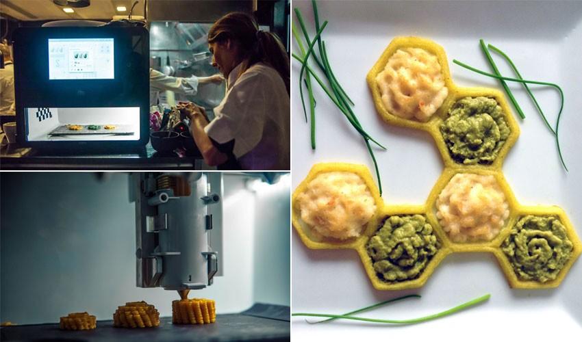 پرینتر سه بعدی غذایی