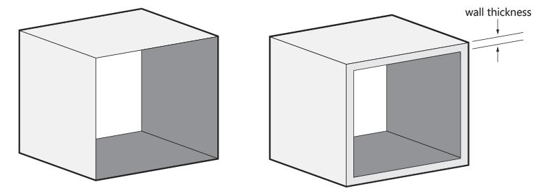 تاثیر ضخامت دیواره در قطعات پرینت شده سه بعدی