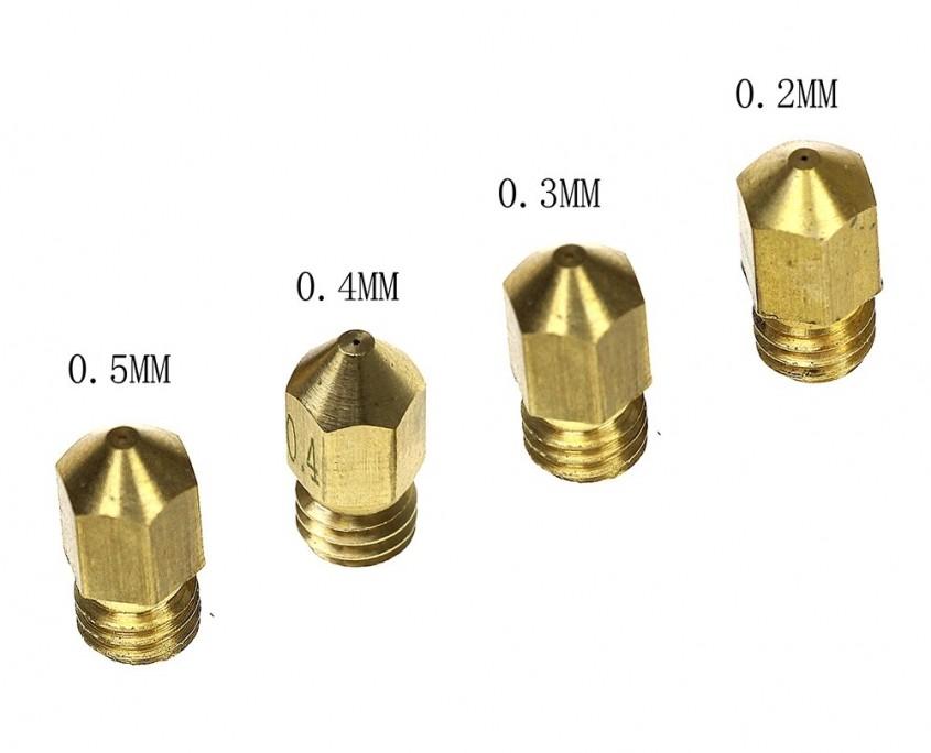 انواع قطر نازل پرینت سه بعدی
