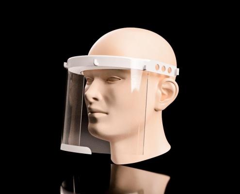 ساخت شیلد محافظ صورت